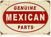 Produktbild: Genuine Mexican Parts Vintage Metal Sign Auto Car Garage 12 X 18 Not Tin by The Vintage Sign Store