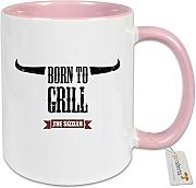 getshirts - SizzleBrothers Merchandise Shop - Tasse Color - SizzleBrothers - Grillen - Born To Grill - rosa uni