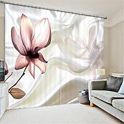 GFYWZ Gardinen Polyester Blumen 3D Stereo Vision Digitaldruck Stoffe Blackout Insulated Lärmminderungsmassiv Thermal Schlafzimmer Schiebegardine Home Decor Fenster Vorhänge , 4 , wide 2.03x high 2.13