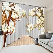 GFYWZ Gardinen Polyester Blumen 3D Stereo Vision Digitaldruck Stoffe Blackout Insulated Lärmminderungsmassiv Thermal Schlafzimmer Schiebegardine Home Decor Fenster Vorhänge , 3 , wide 2.64x high 2.13
