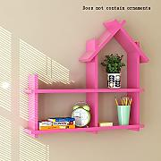 Global- Creative Room Type Hölzerne Wandregale / Floating Regal / Pflanze Stand, Wall Hanging TV Backdrop Wohnzimmer Dekoration Rack Wall Shelf ( Farbe : Pink )
