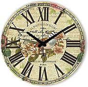 Goonss Large Decorative Wall Clock With Roman Number Warranty 3 Years The Bird Vintage Home Decor Wall Clock Watches Gift,Style 2,12Inch 30Cm
