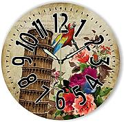 Goonss Room Decorative Wall Clock With Beautiful Flowers And Waterproof Clock Face Style Home Decor Watch,Style 1,12 Inch