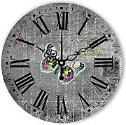 Goonss Style Decorative Wall Clock With Silent Clock Movement The Butterfly Wall Decoration Watch Clock Clock Gift,Style 2,12Inch 30Cm