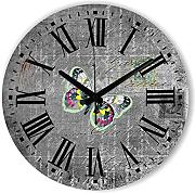 Goonss Style Decorative Wall Clock With Silent Clock Movement The Butterfly Wall Decoration Watch Clock Clock Gift,Style 3,14Inch 35Cm