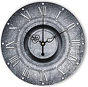 Goonss Wall Decoration Watch For Home Decor Warranty 3 Years Frozen Retro Large Decorative Wall Clock With Roman Number Gift,Style 2,14Inch 35Cm