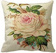 Produktbild: GraebnerSaleStore 18X 18inch Pastoral Style Cotton Linen Decorative Throw Pillow Cover Cushion Case flower H:722