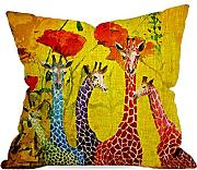 Produktbild: GraebnerSaleStore 18X 18inch Pastoral Style Cotton Linen Decorative Throw Pillow Cover Cushion Case Flower and Giraffe H:194