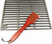 "Gusseisen Grillrost 60 x 40 cm ""Grillclub"" + Messing-Grillbürste Guss, Gasgrill, Rost, Grill Buschbeck"