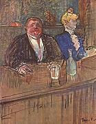 Henri Toulouse Lautrec - In the Bar - Medium - Archival Matte - Brown Frame