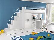 hochbett mit schrank und schreibtisch g nstig online. Black Bedroom Furniture Sets. Home Design Ideas