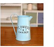 Home Garten Dekorationen Blumen Eimer blue kettle