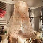 HOME UK- European Style Dome Mosquito Net Decken Typ Verschlüsselung Verdickung Double Home Princess Style Edelstahl Halterung ( Farbe : Jade Farbe )