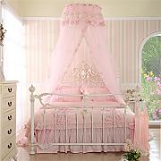 HOME UK- European Style Dome Mosquito Net Verschlüsselung Verdickung Home Princess Style Pink