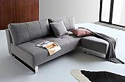 INNOVATION Sofa Supremax Deluxe Excess Lounger grau Twist Charcoal Convertible Bett 152 * 200 cm