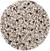 Teppich rund schwarz weiß  SUKHI Teppich rund günstig online kaufen | LIONSHOME