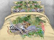 JF-149 Cool 3d Leopard Steppdecke set Double Queen Super King size