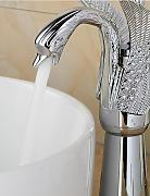 JinRou Luxury home Armaturen Modern Chrom Swan Form Bad Waschbecken Wasserhahn (groß) - Splitter