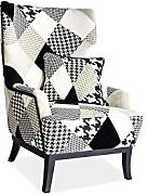 JUSThome Queen Sessel Cocktailsessel Clubsessel Patchwork 107x73x60 cm