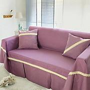 JY$ZB All-Saison Möbel Protector Sofa Protector Baumwolle und Leinen Sofa Möbel Protector Sofa Handtuch , purple cotton , 190*260
