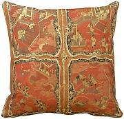 KarilShop Armoire With Four Chinoiserie Red Lacquer Linen Throw Pillow case/Kissenbezüge Cushion Cover Home Sofa Decorative 18 X 18 Inch.