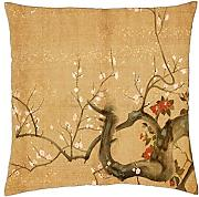 KarilShop Asian yellow Linen Throw Pillow Case Cushion Cover Home Sofa Decorative 18 X 18 Inch. by KarilShop