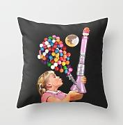 KarilShop Bong For Kids Linen Throw Pillow Case Cushion Cover Home Sofa Decorative 18 X 18 Inch.