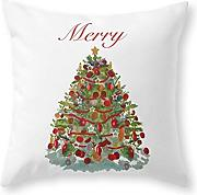 KarilShop Merry tree Linen Throw Pillow Case Cushion Cover Home Sofa Decorative 18 X 18 Inch.
