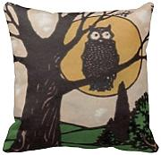 KarilShop Moon Tree Night Linen Throw Pillow Case Cushion Cover Home Sofa Decorative 18 X 18 Inch.