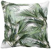 KarilShop Tropical Leaves white Linen Throw Pillow Case Cushion Cover Home Sofa Decorative 18 X 18 Inch.
