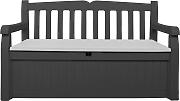 kissenboxen gartenbank mit kissenbox g nstig online kaufen lionshome. Black Bedroom Furniture Sets. Home Design Ideas