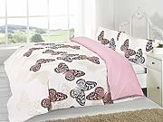 King Home Schmetterling Bettbezug & Kissenbezüge Set Pink von Textiles Direct