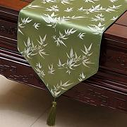 KKY-ENTER Green Table Runner Pastoral Tischdecke Couchtisch Stoff Bett Flagge Schrank Flagge Lange Tisch Tischdecke (nur Verkauf Tischläufer) 33 * 230cm