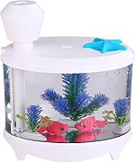 Kreative Aquarienbeleuchtung Befeuchter USB-Luftbefeuchter Mini Home Edition Ladenachthimmel Luftbefeuchter,White-AllCode