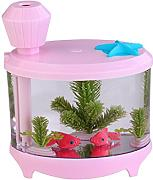 Kreative Aquarienbeleuchtung Befeuchter USB-Luftbefeuchter Mini Home Edition Ladenachthimmel Luftbefeuchter,Pink-AllCode