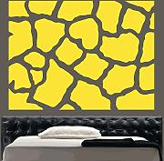 "Kult Kanvas 120 X 160 cm) XL ""SD18, Animalprint Giraffe"", Vinyl, Hocker, gelb, 60 x 80 cm Large"