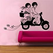 "Kult Kanvas 120 X 180 cm, Größe XL, ""Vespa"" Wandtattoo, Hocker, rose, 60 x 98 cm Large"