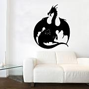 "Kult Kanvas 60 x 73 cm große ""Dragon"" Wandtattoo, Hocker, rose, 60 x 73 cm Large"
