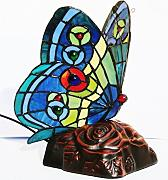 Lampe Schmetterling bunt Tiffany