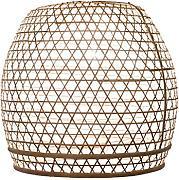 Lampenschirm Basket Bambus L 50x50cm Weiss Bambuslampen Aus Bali Handgemachte Lampenschirme