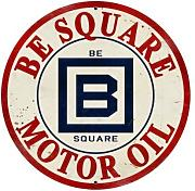 Produktbild: LARGE B Square Gasoline Vintage Metal Sign Gas Shop Auto Garage 28 X 28 Not Tin by The Vintage Sign Store
