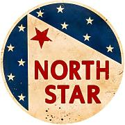 Produktbild: LARGE North Star Gasoline Vintage Metal Sign Auto Car Shop Garage 28X28 Not Tin by The Vintage Sign Store