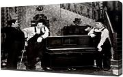 Laurel & Hardy (Music Box, The)_01 - Leinwandbild - Kunstdrucke