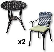 produktbild lazy susan ivy bistrotisch mit 2 st hlen rundes. Black Bedroom Furniture Sets. Home Design Ideas