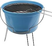 Leicht Camping Picknick Holzkohle Eimer-Grill Grill - blau