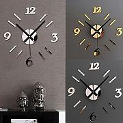 abstrakt silver designer wanduhr funkuhr leise modernes design, Wohnideen design