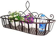 LHP Continental Iron Wandbehang Flower Pot Regal, Balkon Blumenregal, Dekorative Pflanze Regal High-End ( farbe : Bronze , größe : L )