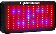 Lightimetunnel Led Pflanzenlampe 300W Vollspektrum Led Grow Lampe Rot Blau mit IR UV Licht Höher Pflanzen Ausbeute für Hydroponik Gewächshaus Veg Keimung Blüte Früchte 400*210*60mm