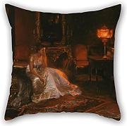 Produktbild: Loveloveu Cushion Covers Of Oil Painting Giuseppe Pennasilico - The End Of A Dream,for Teens Boys,divan,him,home Office,wedding,seat 16 X 16 Inches / 40 By 40 Cm(both Sides)
