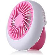 LUFA Mini-Ventilator Portable USB aufladbare Ganz Design Fan für Laptop / PC Rosa&12.5x 12.5cm